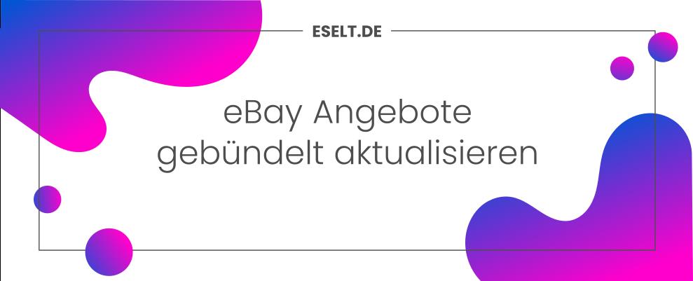 eBay Angebote gebündelt aktualisieren